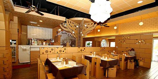 DISEÑOUn restaurante de cartón en Taiwan