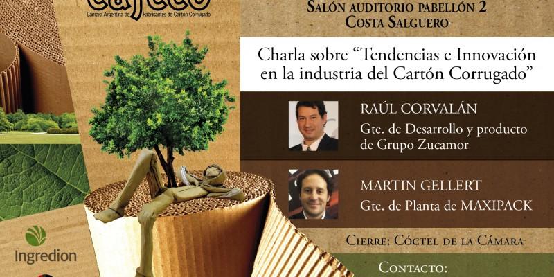"""CAFCCOCAFCCO invita a la Charla: """"Tendencias e Innovación en la Industria del Cartón Corrugado"""""""