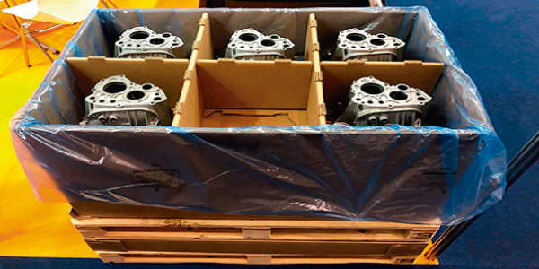 Nuevo diseño de embalaje de cartón  corrugado para el sector metalúrgico